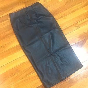 NWT ASOS Black Pleather Pencil Skirt Sz 8